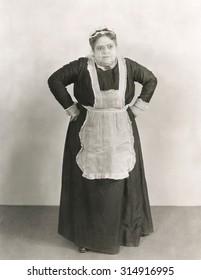 Furious maid