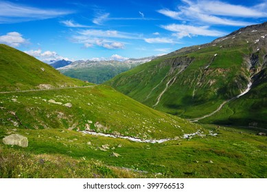 Furka Pass, with an elevation of 2,429 metres , is a high mountain pass in the Swiss Alps connecting Gletsch, Valais with Realp, Uri