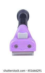Furminators Grooming cats. Care for the animals on a white background isolated