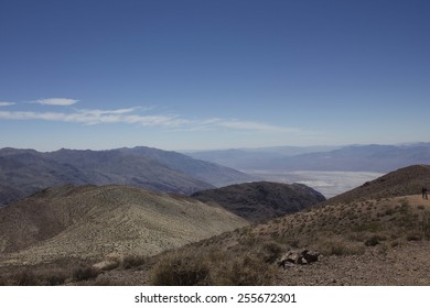 FURNACE CREEK, USA - August 8 2013: Landscape View of Death Valley National Park from Dante's view viewpoint