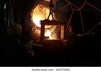 furnace A view of ferrous casting dual track furnace in manufacturing unit