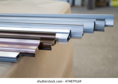 Furniture accessories. Metal plinth to the kitchen for the countertop with silicone pads of different sizes and shapes.
