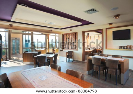 Furniture Decoration Restaurant Modern Style Day Stock Photo ...