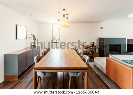 Furniture In Living Room Interior Dining Table Mini Bar With Alcohol Fire Place