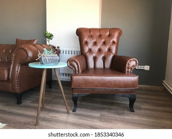 Furniture and natural plant background design. Safety home.