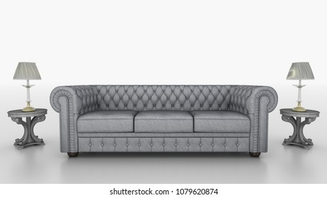 FURNITURE OLD CHESTERFIELD