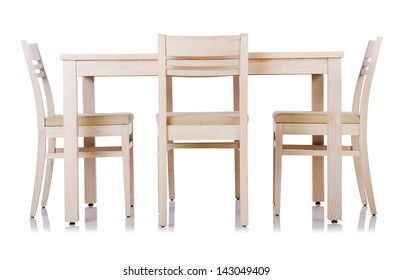 Furniture set with table and chair