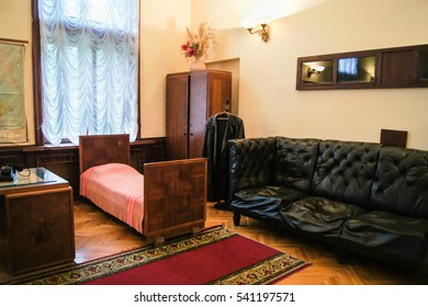 Furniture in Stalin's office. Sochi, Russia - 7 May, 2016. Stalin's dacha in the sanatorium Green Grove.