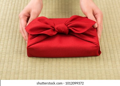 Furoshiki is Japanese wrapping cloth, traditionally used to transport gifts.