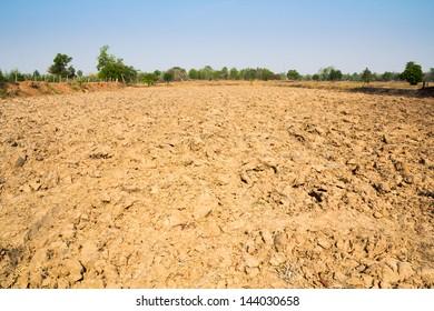 Furrow soil of farm in thailand