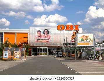 Furth, Germany MAY 21, 2018: The OBI market in Furth, Germany. Obi is the largest hardware and do-it-yourself retailer in Germany