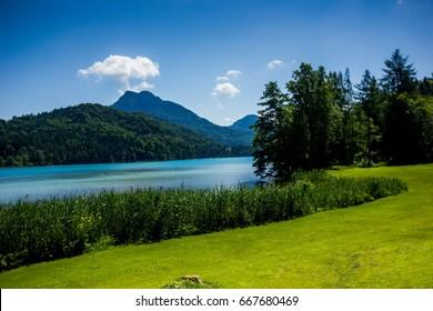 Fuschlsee lake. Austria.