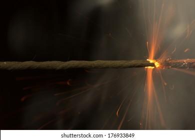 Fuse is burning