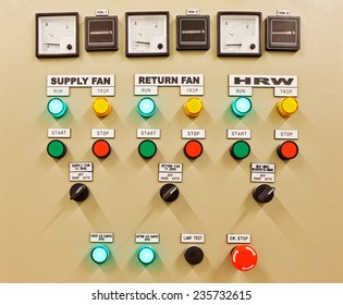 Fuse control panel box with a three rows of dedicated fuses. It is a crutial thing for every building to keep all the fuses well described