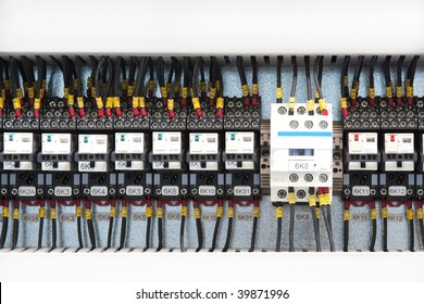 fusebox panel and wires