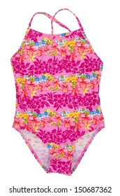 fused colored swimsuit isolated on white background