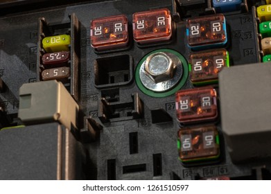 fuses in fuse box inside the car