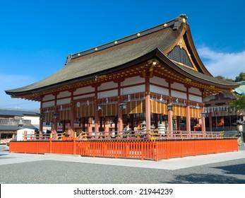 Fushimi Inari Shrine in Kyoto Japan dedicated to Shinto god Inari