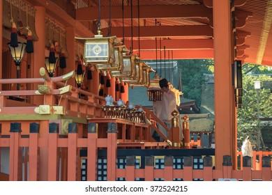 Fushimi Inari Taisha Shrine in Kyoto, Japan 16 November 2015,