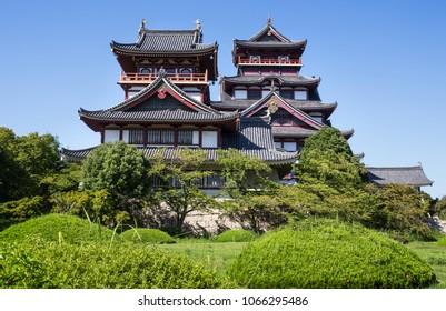 Fushimi-Momoyama Castle stands in Kyoto Prefecture