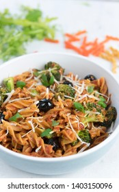 Fusili Pasta with vegetable and olives