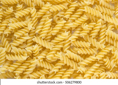 Fusilli pasta background