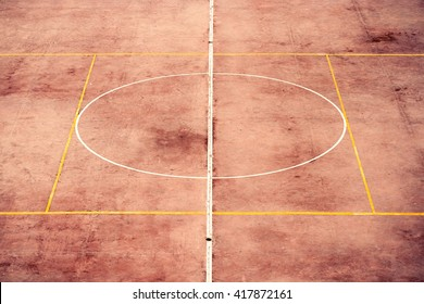 Fussballplatz in der Stadt El Jadida (Marokko).Football ground in the city of El Jadida (Morocco).