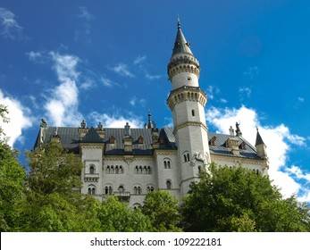 FUSSEN GERMANY- AUGUST 10:Neuschwanstein Castle is famous because it is the one that was inspired by Walt Disney for his princesses present in all the resorts on August 10,2011 in Fussen Germany