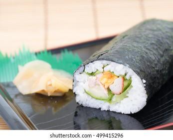 Futomaki. Japanese roll sushi