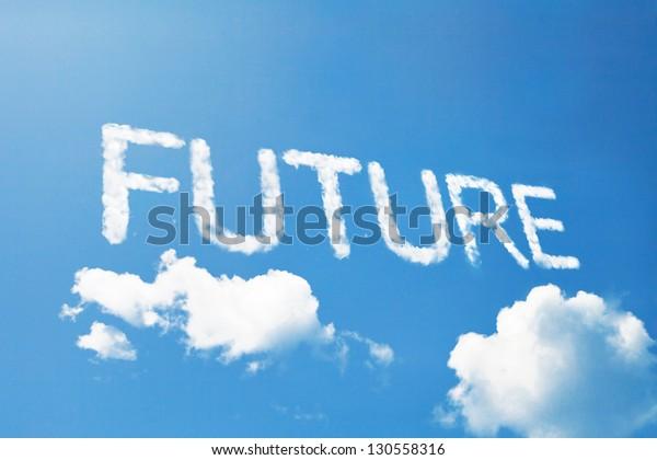future cloud word