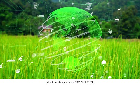 Future environmental conservation and sustainable ESG modernization development by using technology of renewable resources to reduce pollution and carbon emission .