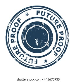 Future proof business concept rubber stamp isolated on a white background.