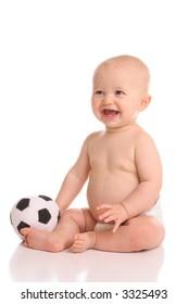 future smiling soccer star kid