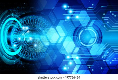 future technology, blue light cyber security concept background, abstract hi speed digital data internet website. motion move speed blur