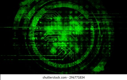 future technology, security concept background. vector.dark green Light Technology background for computer graphic website internet business. circuit. ray. pixel