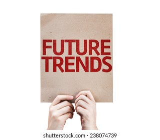 Future Trends card isolated on white background