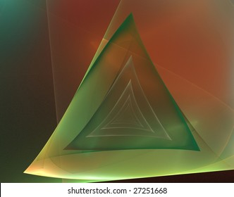 Futuristic abstract background (with green triangles)