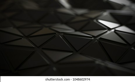 Futuristic abstract surface, polygonal background, 3d illustration