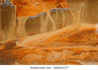 Futuristic background in the colors orange, yellow, ochre, looks like a desert storm