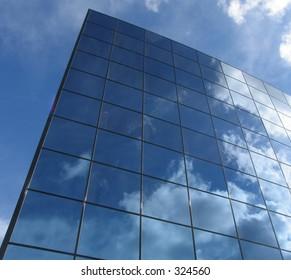 Futuristic business building