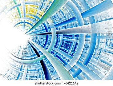 futuristic circular background texture