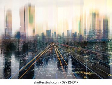 futuristic cityscape background, urban city life background