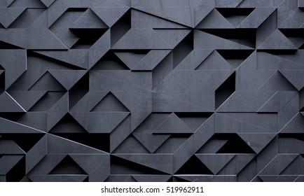 Futuristic Creative Dark Background (3D illustration)