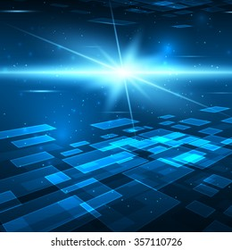 Futuristic digital background with space for your text. Technology illustration for your business/science/technology artwork.