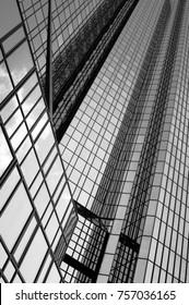 futuristic finance building