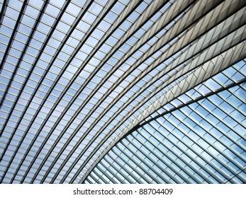 Futuristic Liege-Guillemins railway station