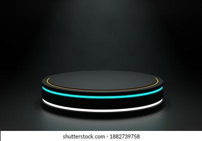 Futuristic podium  for product display