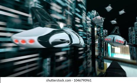 Futuristic race - 3D Animation