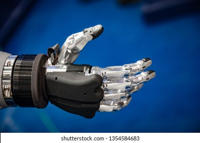 Futuristic Robotic Hand for a handshake
