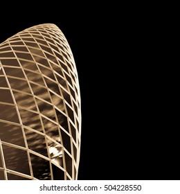 futuristic skyscraper tower architectural background 3d illustration